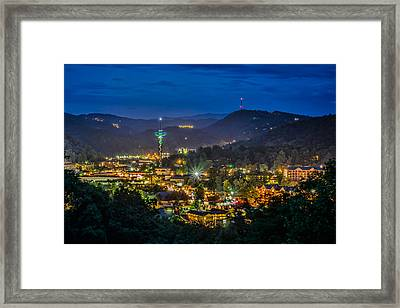 Gatlinburg And The Smokey Mountains Framed Print by Brian Young