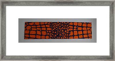 Gator Skin Framed Print by Holly Donohoe