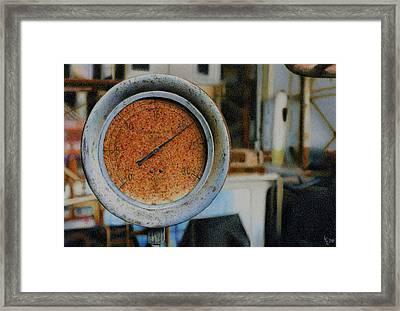 Gauge Framed Print by Laura Leonard