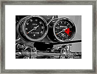 Gauging Speed Framed Print by Tom Gari Gallery-Three-Photography