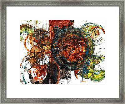 Framed Print featuring the painting Gaurdian  02.101511 by Kris Haas