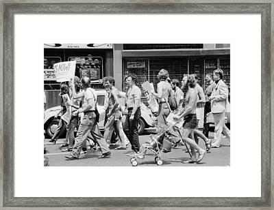 Gay Rights Demonstration Framed Print