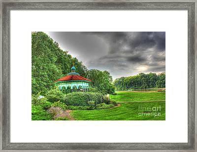 Gazebo At Eden Park Framed Print
