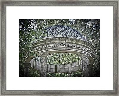 Gazebo At Longwood Gardens Framed Print