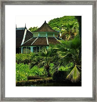 Gazebo At Moanalua Gardens Framed Print by Craig Wood