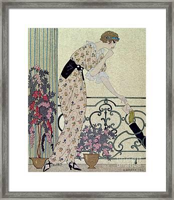 Gazette Du Bon Ton Framed Print by Georges Barbier