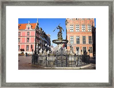 Gdansk Old City In Poland Framed Print by Artur Bogacki