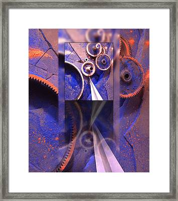 Gear Composition Framed Print by Ron Schwager