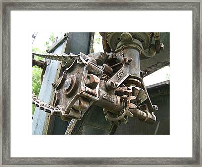 Gears And Sprockets Framed Print