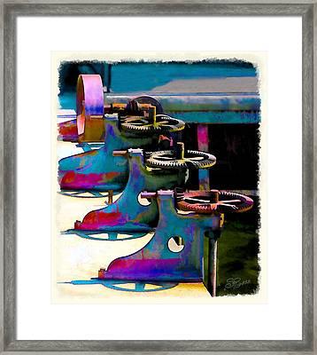 Gears Framed Print by Suni Roveto