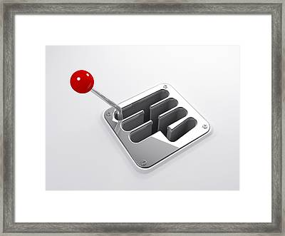 Gearstick, Artwork Framed Print