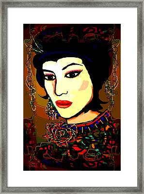 Geisha 5 Framed Print by Natalie Holland