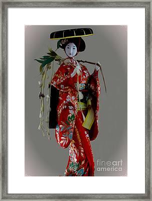Geisha Elegance Framed Print by Al Bourassa
