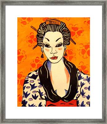 Geisha No. 1 Framed Print by Patricia Lazar