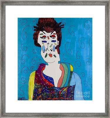 Geisha Framed Print by Stephanie Ward