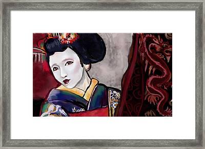 Geisha Study Framed Print by Lakota Phillips