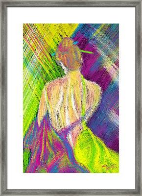 Geisha Sumber Framed Print by Kenal Louis