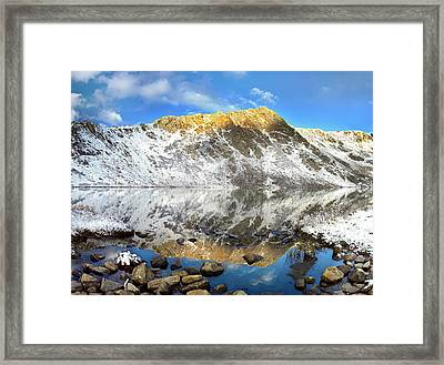 Geissler Mountain In Linkins Lake Framed Print by Tim Fitzharris