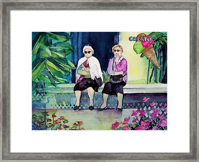 Gelato Framed Print by Regina Ammerman