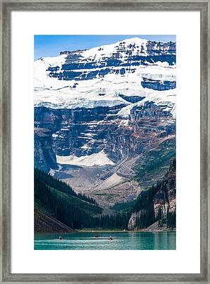 Gem Of The Canadian Rockies Lake Louise Framed Print by Tommy Farnsworth
