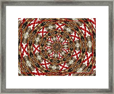 Gemstones And Silver Jewelry Kaleidoscope Framed Print