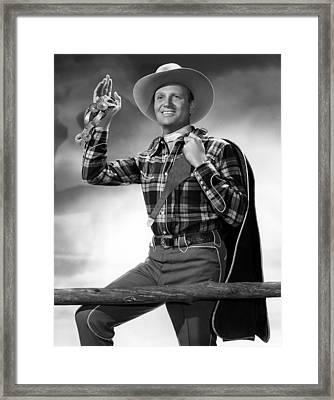 Gene Autry, C. 1940s Framed Print