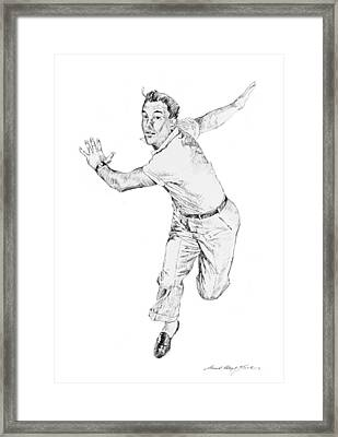 Gene Kelly Framed Print by David Lloyd Glover
