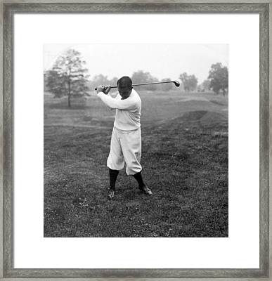 Framed Print featuring the photograph Gene Sarazen - Professional Golfer by International  Images