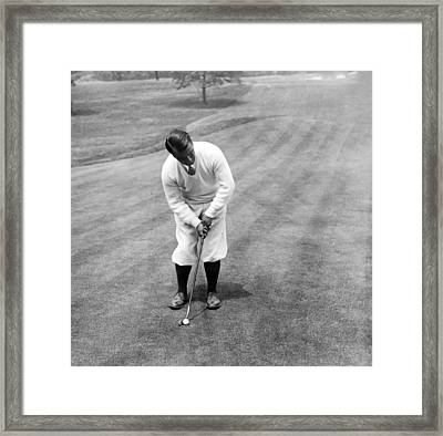 Framed Print featuring the photograph Gene Sarazen Playing Golf by International  Images