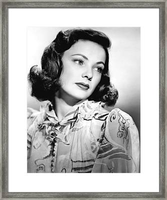 Gene Tierney, Circa 1940s Framed Print