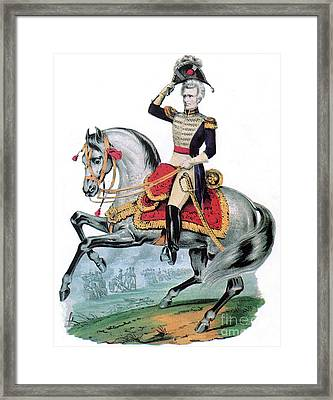 General Andrew Jackson, Hero Of New Framed Print by Photo Researchers