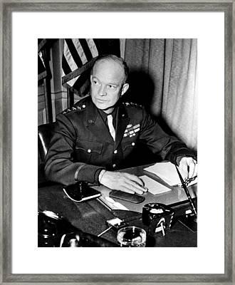 General Dwight D. Eisenhower, January Framed Print by Everett