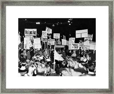 General Eisenhower Is Drafted. 25,000 Framed Print by Everett
