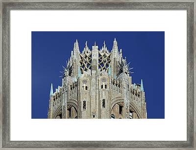 General Electric Building Framed Print by Christian Heeb