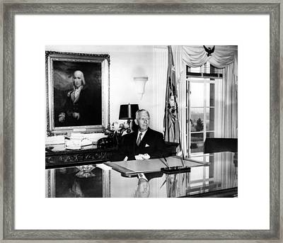 General George C. Marshall As Secretary Framed Print by Everett