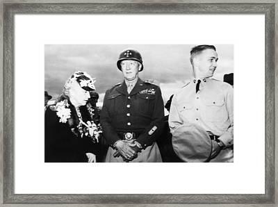 General George S. Patton Jr. Center Framed Print by Everett