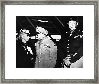 General George S. Patton Jr. Right Framed Print by Everett
