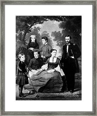 General Grant And Family Framed Print