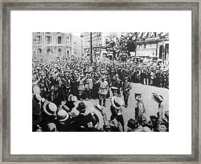 General John J. Pershing Being Welcomed Framed Print by Everett
