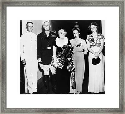 General Patton Reunited With His Family Framed Print by Everett