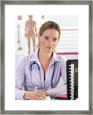 General Practice Doctor Framed Print by Tek Image