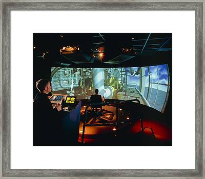 General View Of Reality Centre Simulator (oil Rig) Framed Print by David Parker