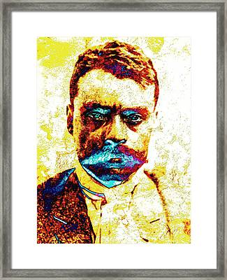 General Zapata Framed Print by J- J- Espinoza