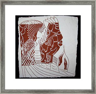 Generations - Tile Framed Print by Gloria Ssali