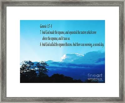 Genesis 1 Framed Print by Lorraine Louwerse