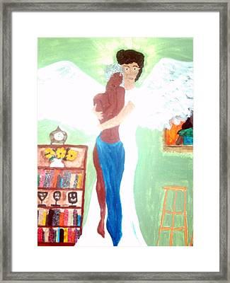 Genesis 6 1 Framed Print by Violette L Meier