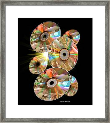 Genetic Information Storage Framed Print by Victor Habbick Visions
