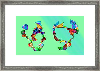 Genetic Mapping Framed Print