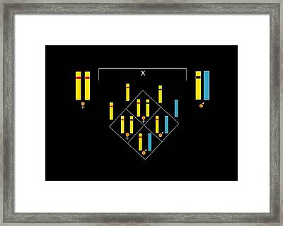 Genetics Of Colour Blindness, Artwork Framed Print