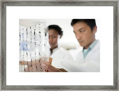 Genetics Research Framed Print by